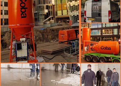 Coba: cementgebonden vloerrenovatie Jumbo City
